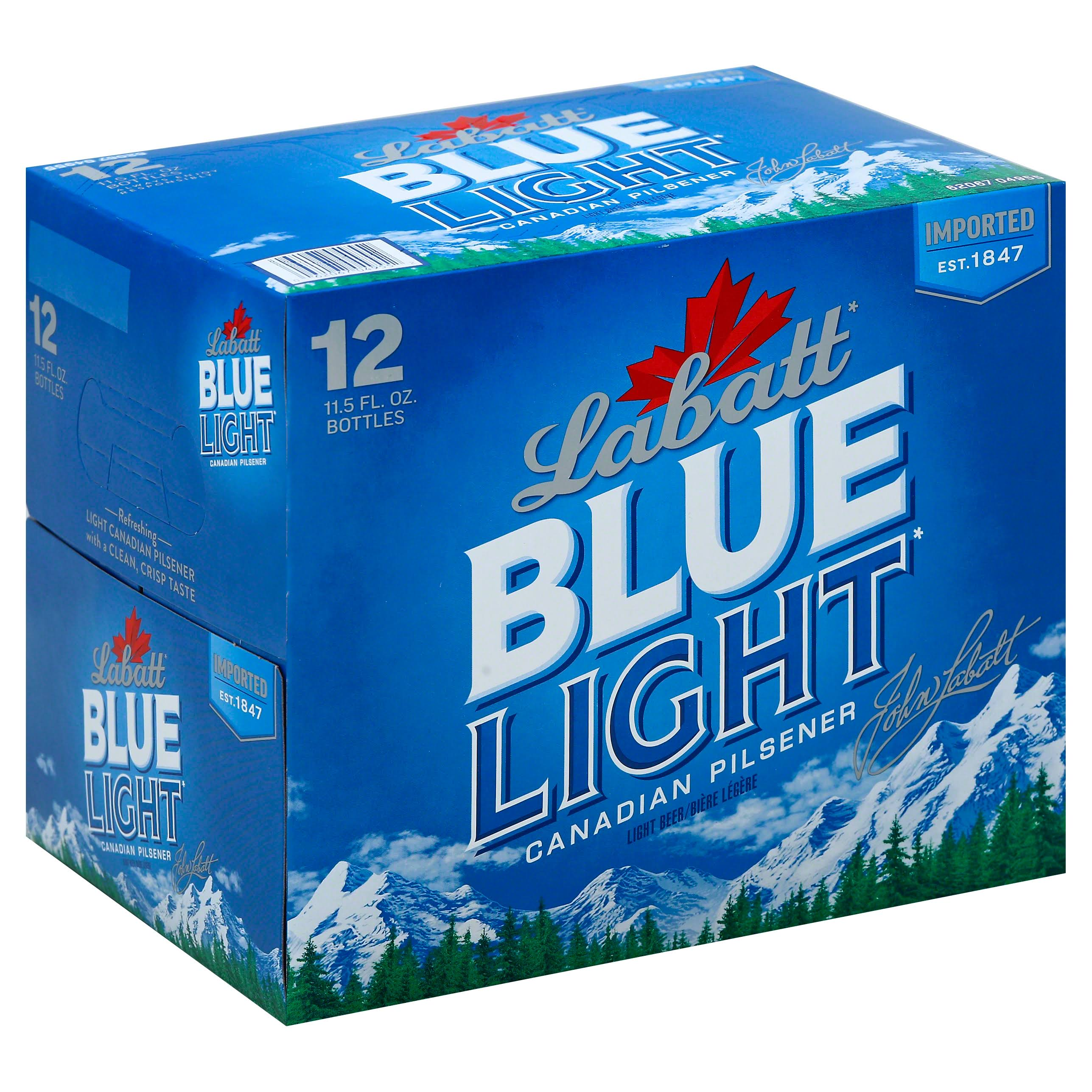 Labatt Blue Light Beer Bottles