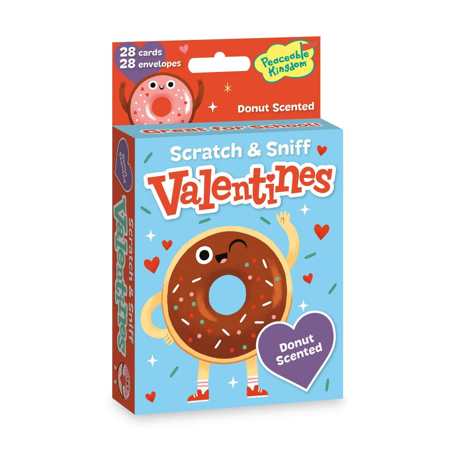 Peaceable Kingdom Donut Scratch & Sniff Valentines