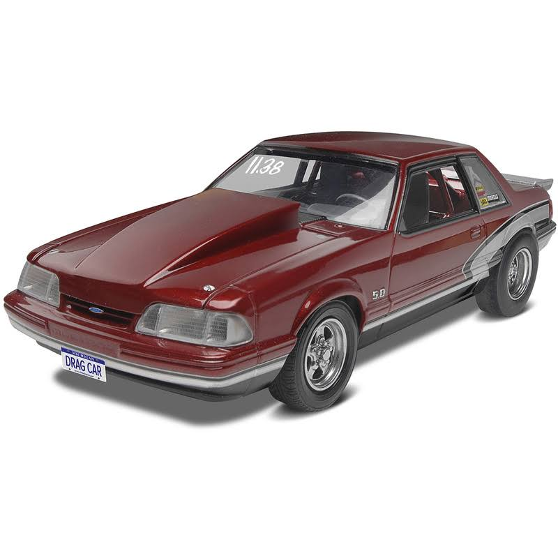 Revell 4195 90 Mustang LX 5.0 Drag Racer Motor Sports Car Model Kit - 1/25 Scale