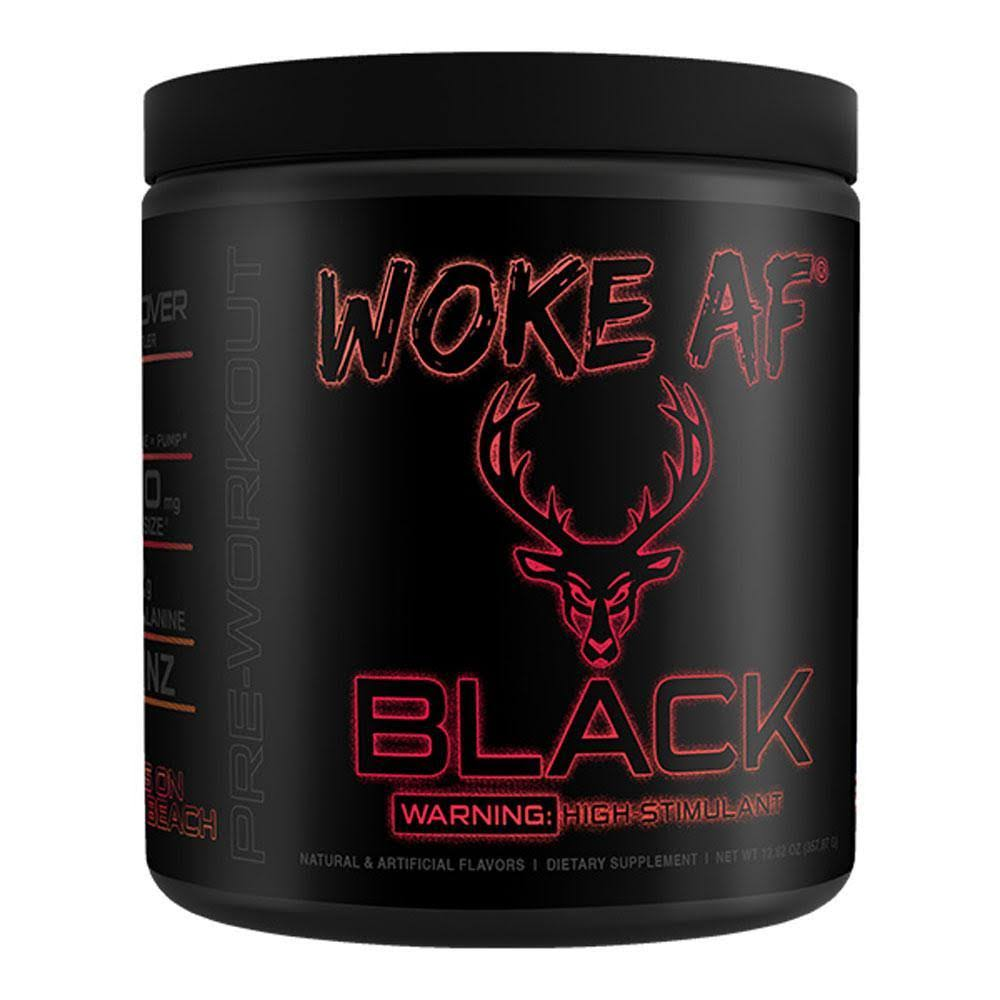 Bucked Up Woke AF Black 30 Servings Sets on The Beach