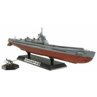 Tamiya Models Japanese Navy Submarine I-400 Model Kit - 1:350 Scale