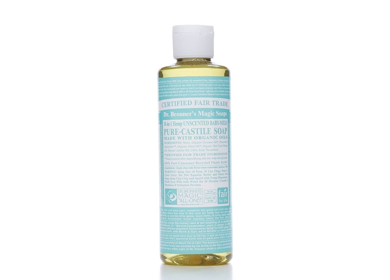 Dr. Bronner's Organic Pure Castile Unscented Liquid Baby Soap