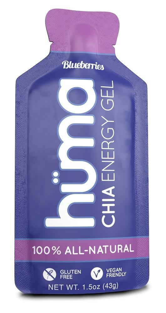 Huma Gel Chia Energy Gel Blueberries 1.5 oz.
