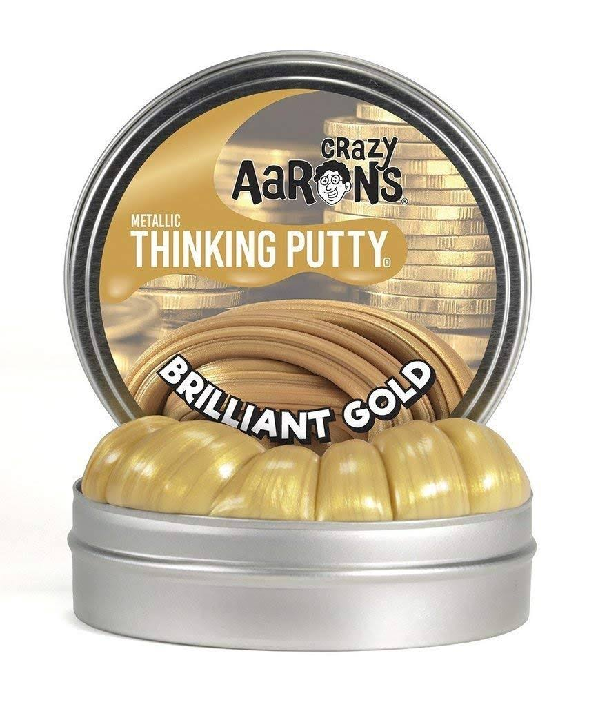 Crazy Aaron's Thinking Putty Brilliant Gold Mini Tin