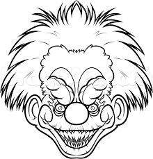 Scary Halloween Coloring Pages Online by Scary Clown Coloring Pages U2013 Fun For Halloween