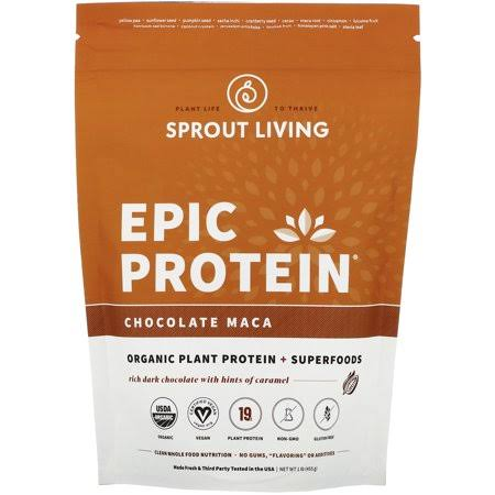 Sprout Living Epic Protein Supplement - Chocolate Maca, 1lb