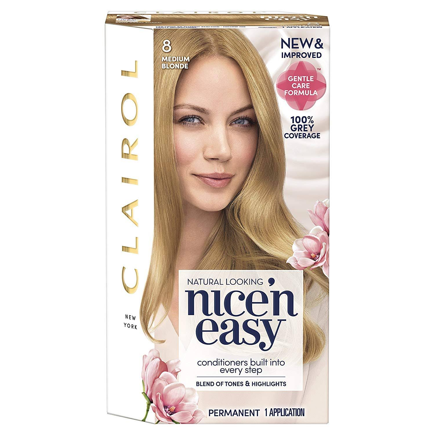 Clairol Nice'n Easy Permanent Hair Dye - 8 Medium Blonde