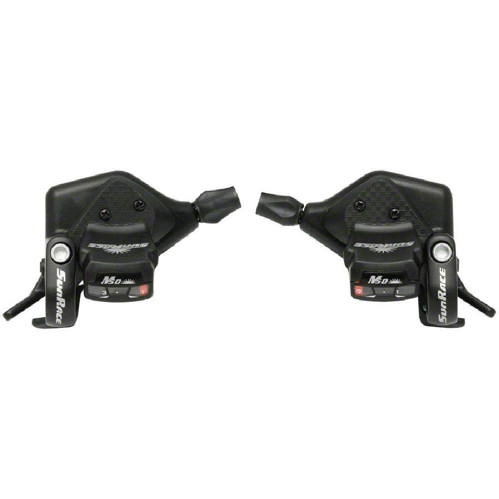 Sunrace Dual Shift Lever M53 Shifter Set - Black, 7 Speed