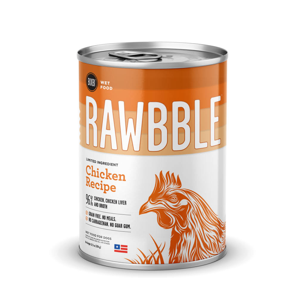 Bixbi Rawbble Chicken Wet Dog Food - 12.5 oz Can