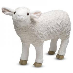 "Melissa and Doug Giant Sheep Stuffed Animal - 20"" x 27"" x 9"""
