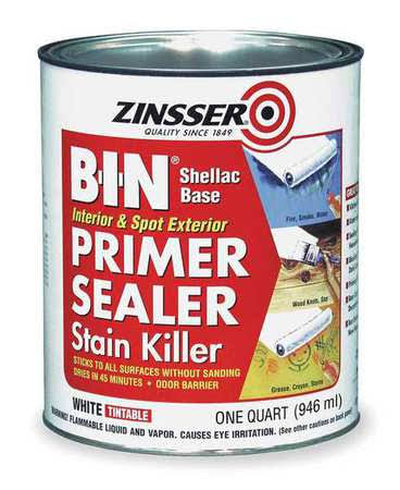 Zinsser B-I-N Shellac Base Primer Sealer Stain Killer - White, 1 Quart