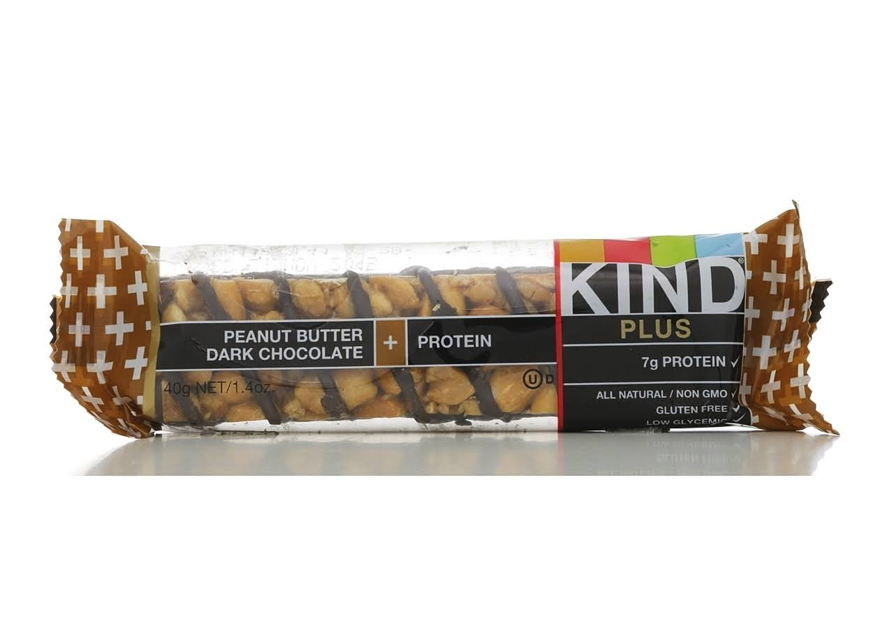 Kind Plus Protein Gluten Free Bars - Peanut Butter Dark Chocolate, 1.4oz