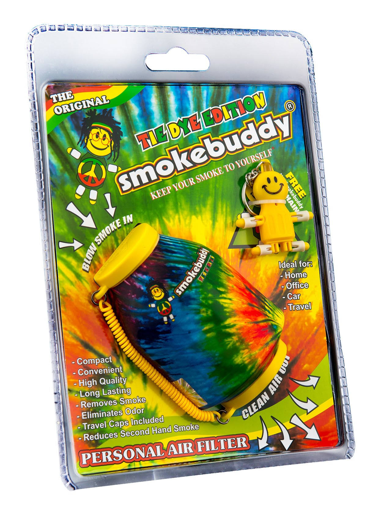 Smoke Buddy Original Personal Air Odor Cleaner Vape - Yellow and Orange