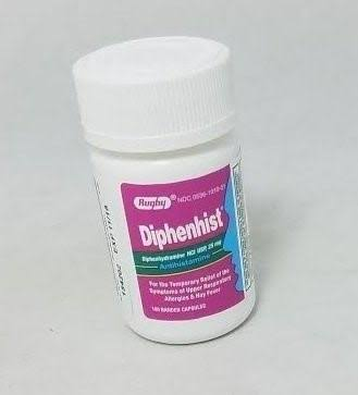Rugby Diphenhist 25mg 100 Banded Capsules (4 Pack)