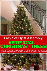 Lifelike Artificial Christmas Trees Canada by Easy To Set Up And Assemble Artificial Christmas Trees That Look