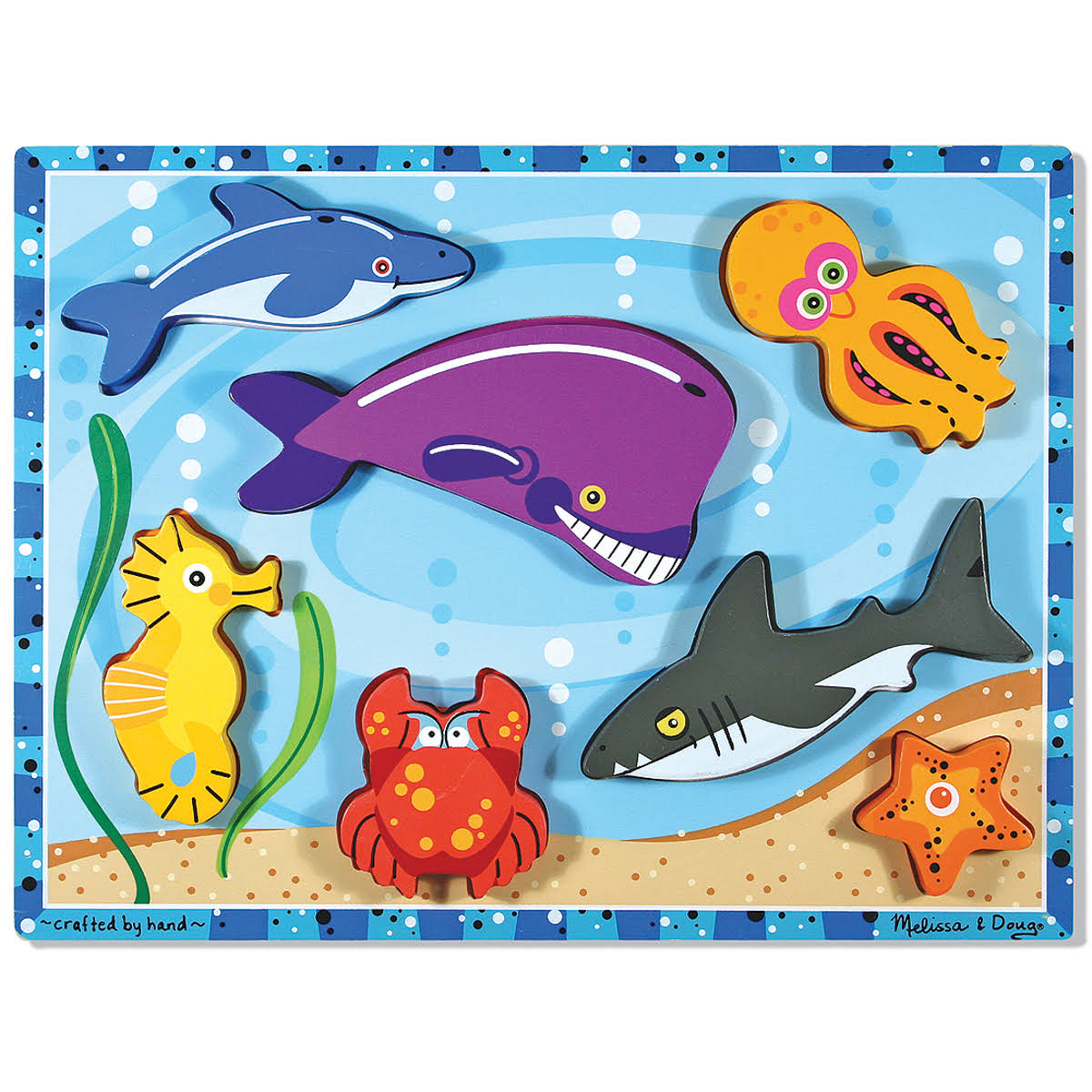 Melissa and Doug Sea Creatures Chunky Puzzle - 7pcs
