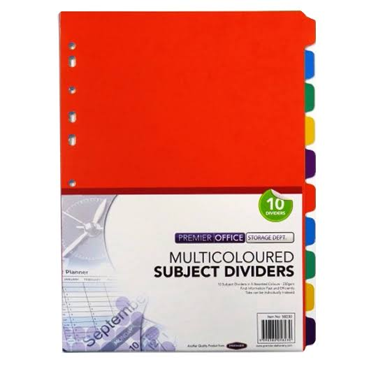 Premier Depot Subject Dividers - 10 Pack