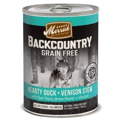 Merrick Backcountry Grain Free Dog Food - Hearty Duck & Venison Stew