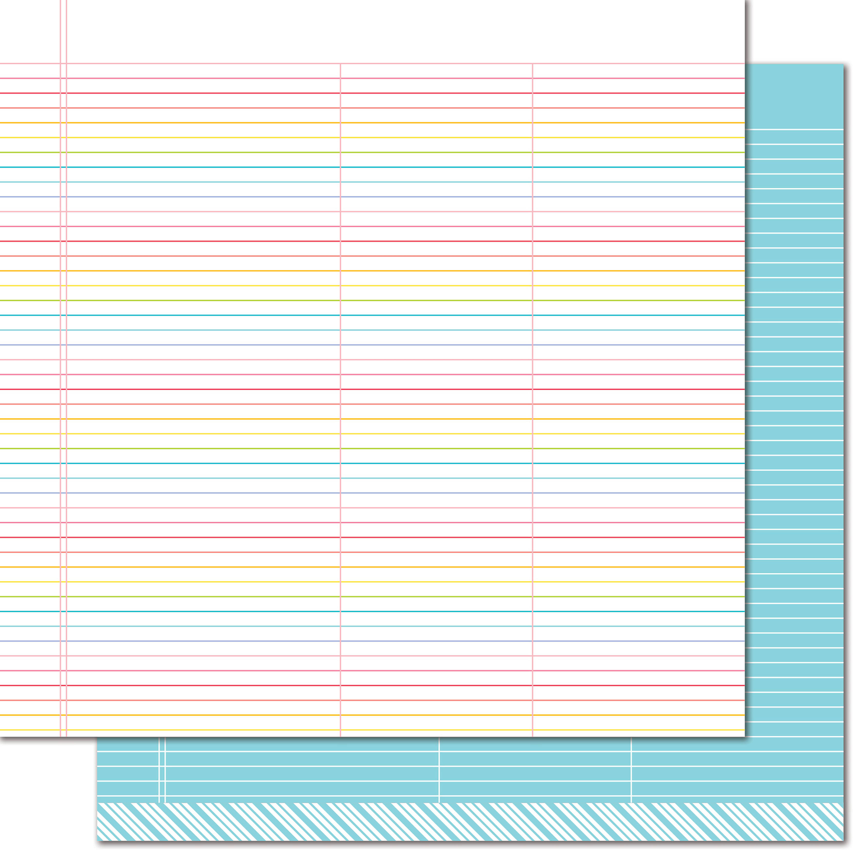 "Lawn Fawn Really Rainbow Collection Double Sided Paper - True Blue, 12""x12"""