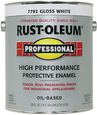 Rust-Oleum Professional High Performance Protective Enamel - Gloss White, 1 Gallon