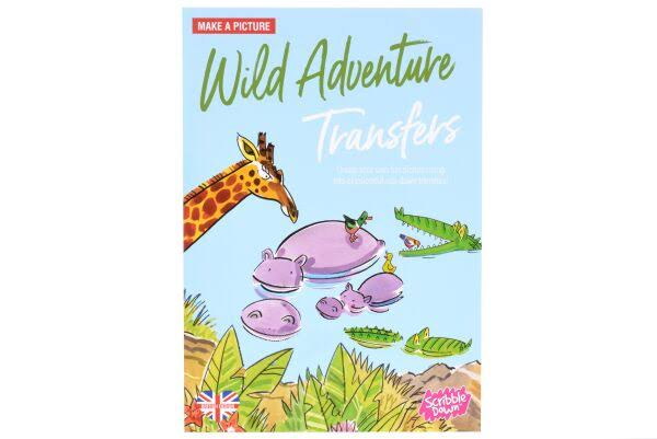 Scribble Down Activity Transfers Pack - Wild Adventures At The Waterhole