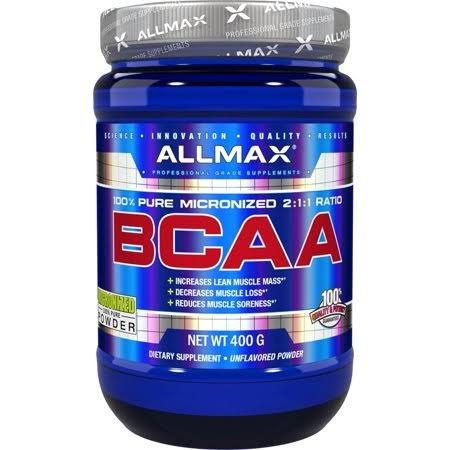 AllMax Nutrition BCAA Supplement - 400g, Unflavored