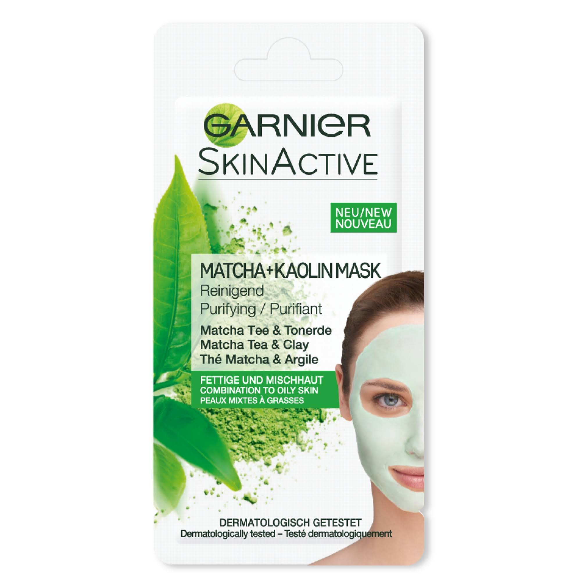Garnier Matcha & Kaolin Face Mask - 8ml, Matcha Tea & Clay