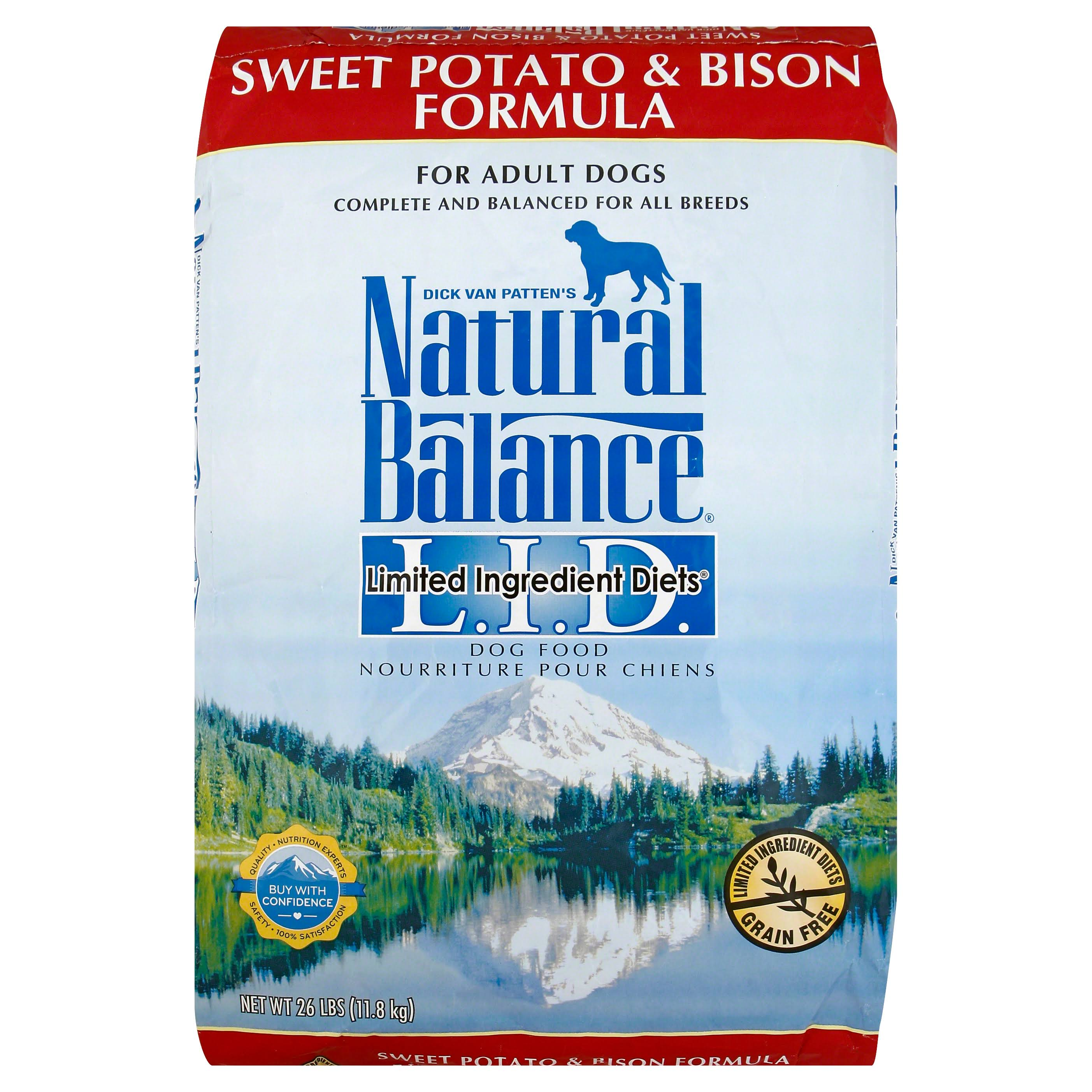 Natural Balance Limited Ingredient Diets Dog Food - Sweet Potato and Bison Formula, Dry, 26lbs