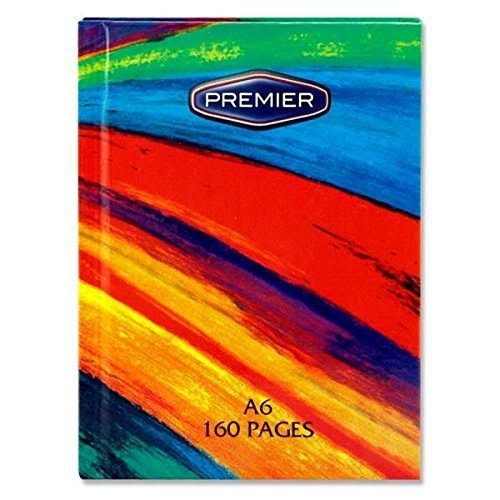Premier Hardback A6 Notebook - Rainbow, 160 Pages