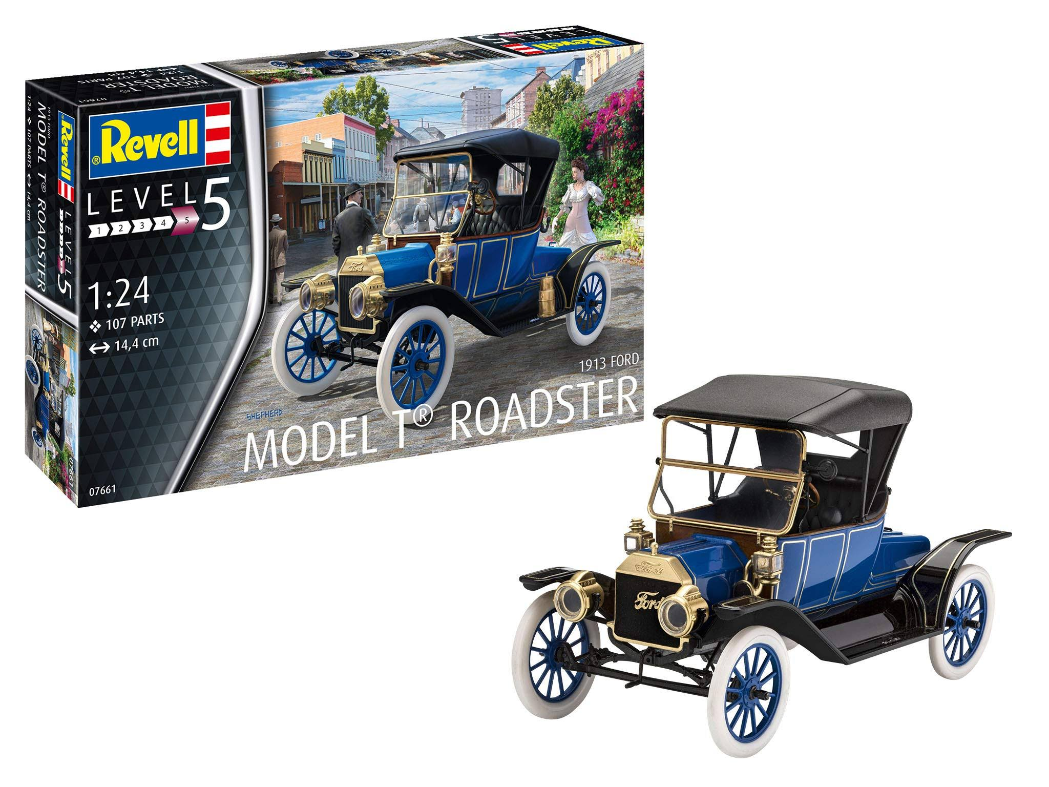 Revell 07661, 1913 Ford Model T Roadster, Car Model Kit 1:24