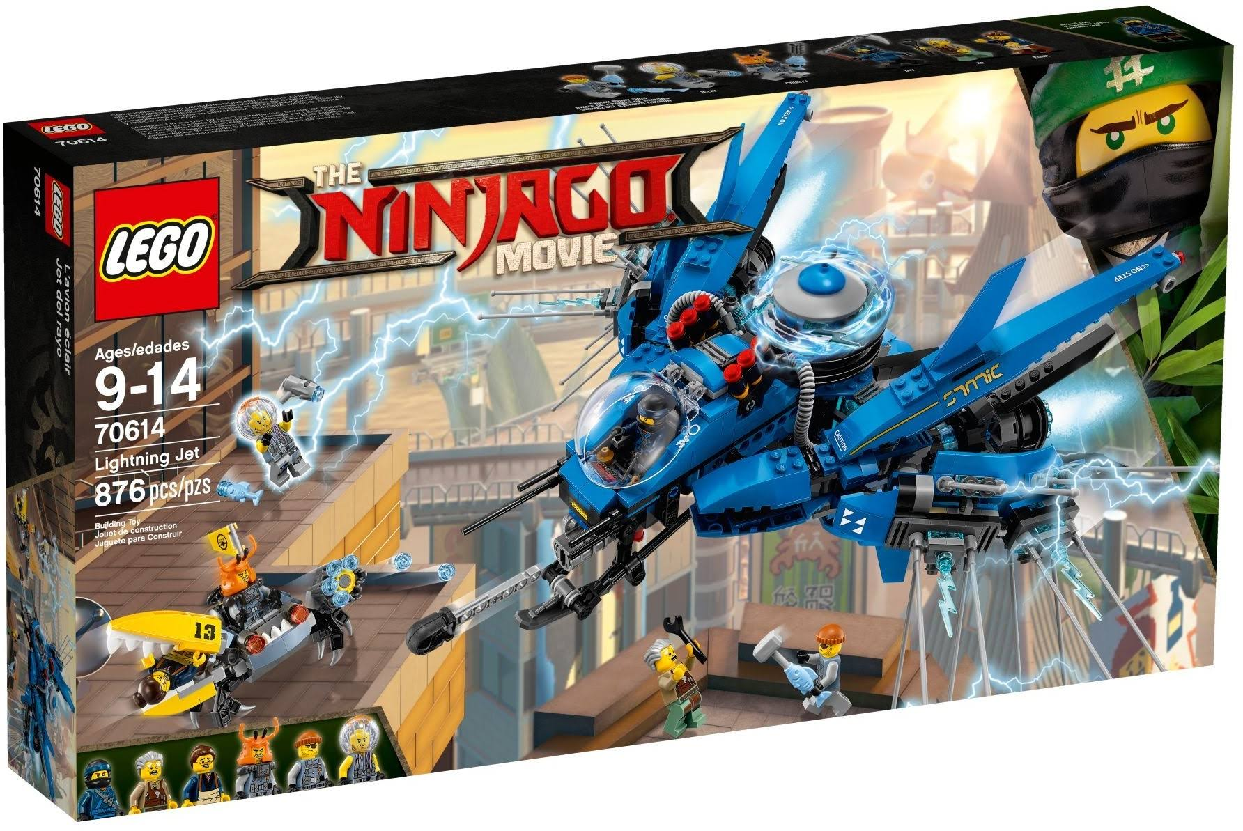 Lego 70614 The Ninjago Movie Lightning Jet Building Toy - 876pcs