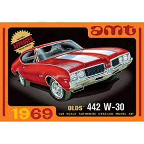 AMT 1969 Oldsmobile 442 W-30 Plastic Model Kit - 1:25 Scale