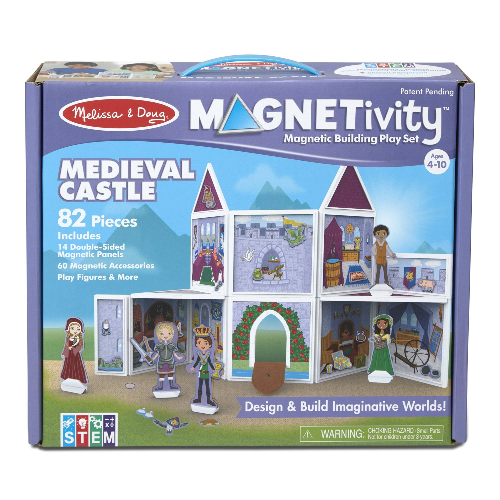 Melissa & Doug Building Play Set Medieval Castle Magnetivity Magnetic