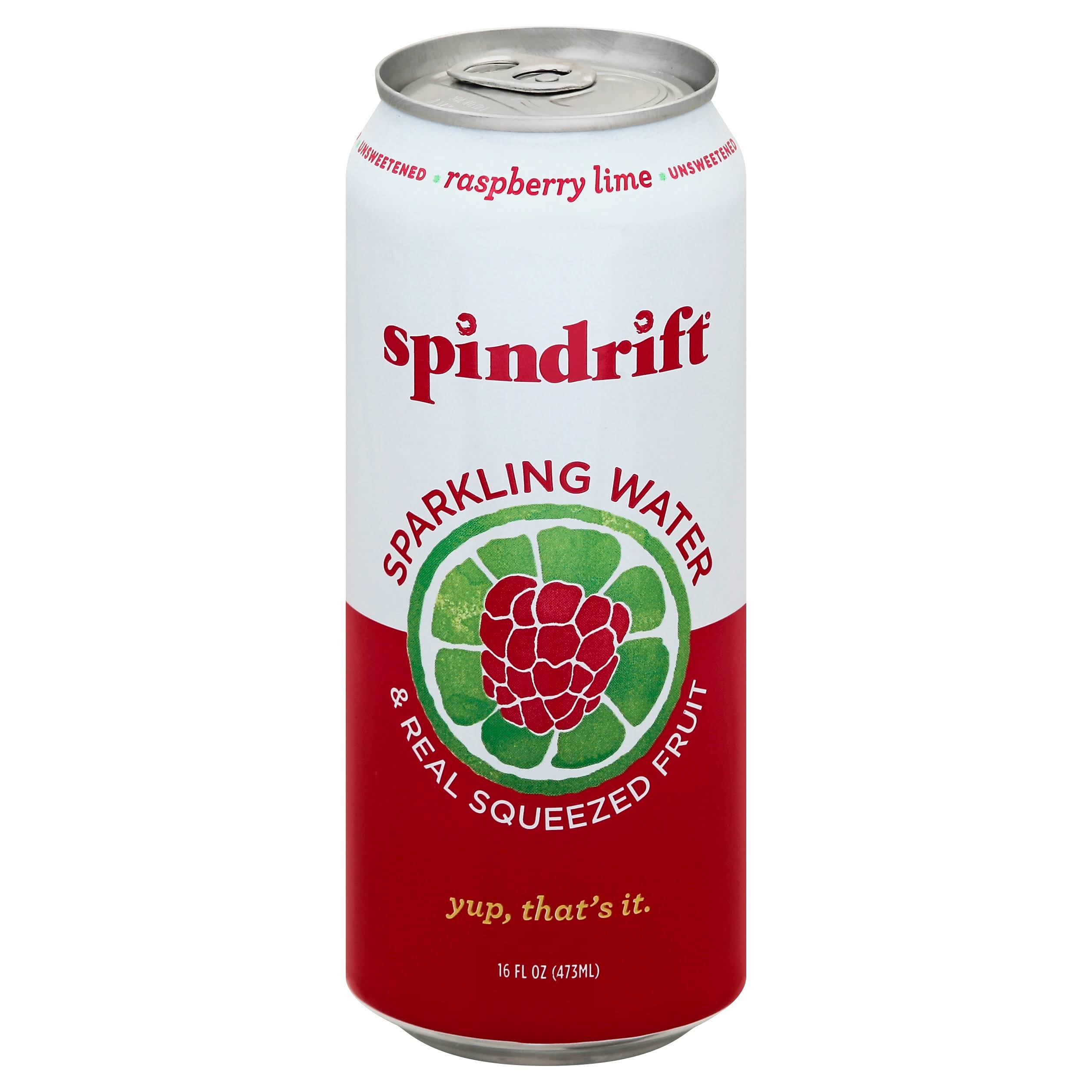 Spindrift Sparkling Water, Raspberry Lime - 16 fl oz