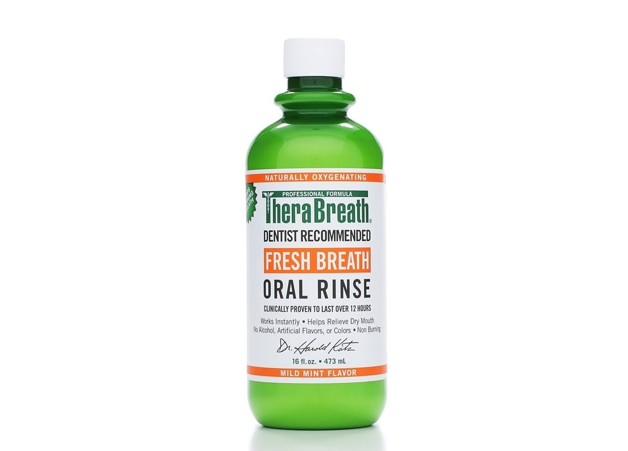 TheraBreath Fresh Breath Oral Rinse - Mild Mint, 16oz