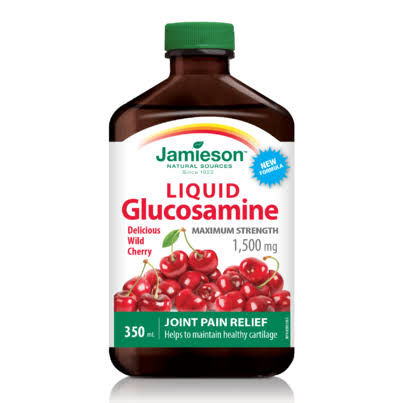Jamieson Liquid Glucosamine Joint Pain Reliver - 1500mg, Wild Cherry, 350ml