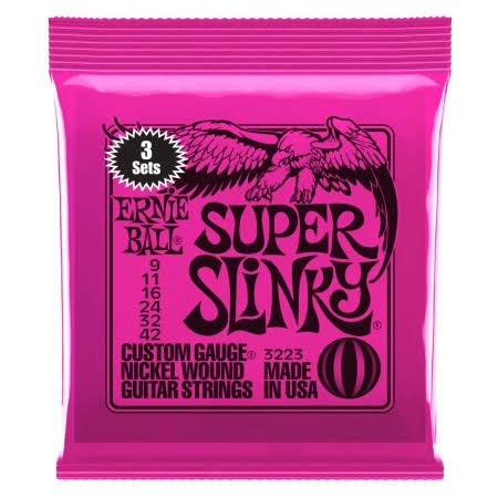 Ernie Ball Nickel Super Slinky Custom Gauge Electric Guitar Strings