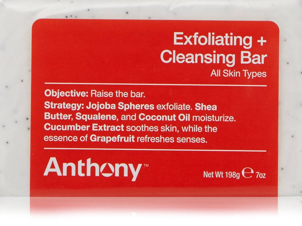 Anthony Exfoliating and Cleansing Soap Bar - Grapefruit, 7oz