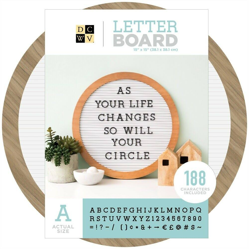 "Die Cuts with A View Letter Board - White, 15"" x 15"""