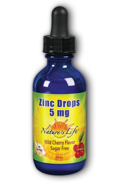 Nature's Life Liquid Zinc - Wild Cherry