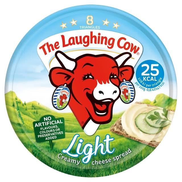 The Laughing Cow Light Spread Cheese - 8 Triangles, 140g