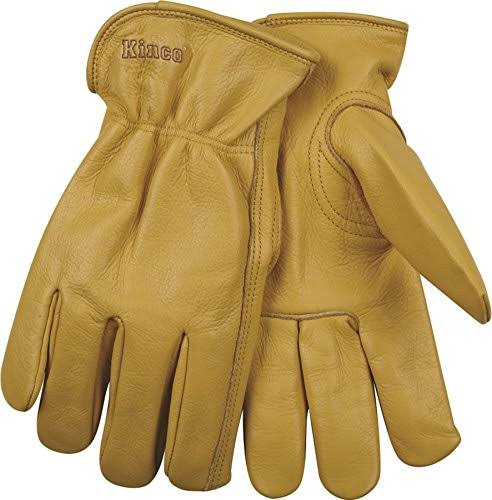 Kinco Cowhide Grain Drivers Work Gloves - Large