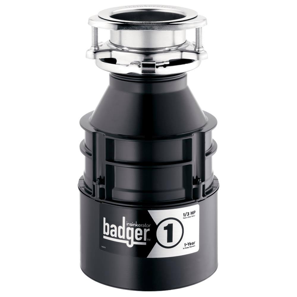 Insinkerator Badger Household Food Waste Disposer - 1-1/3 HP