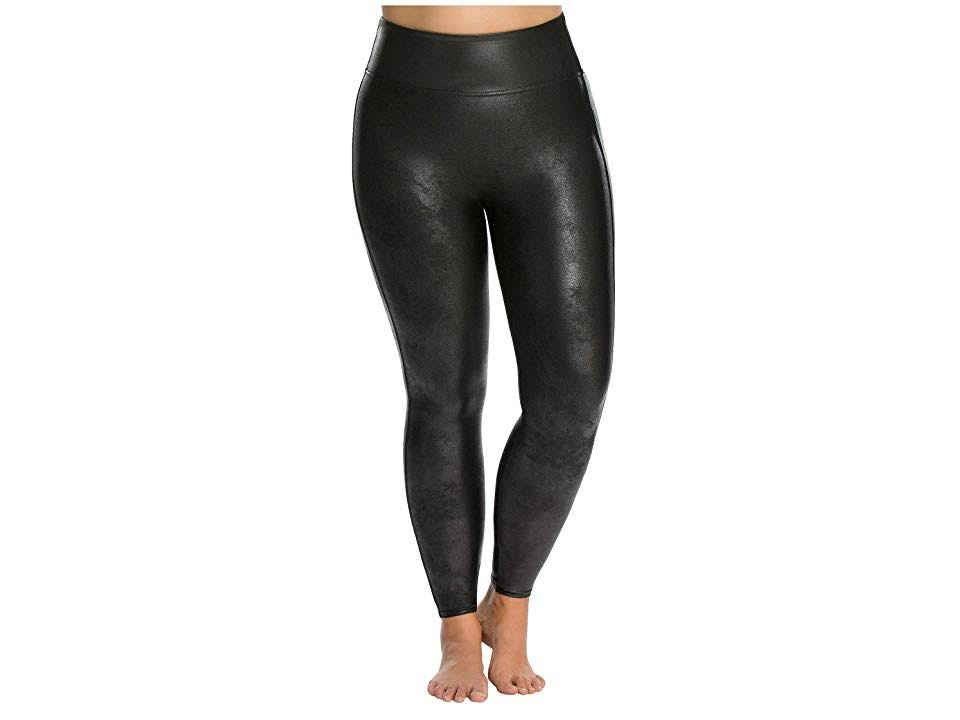 Spanx Faux-Leather Leggings - Black 2x