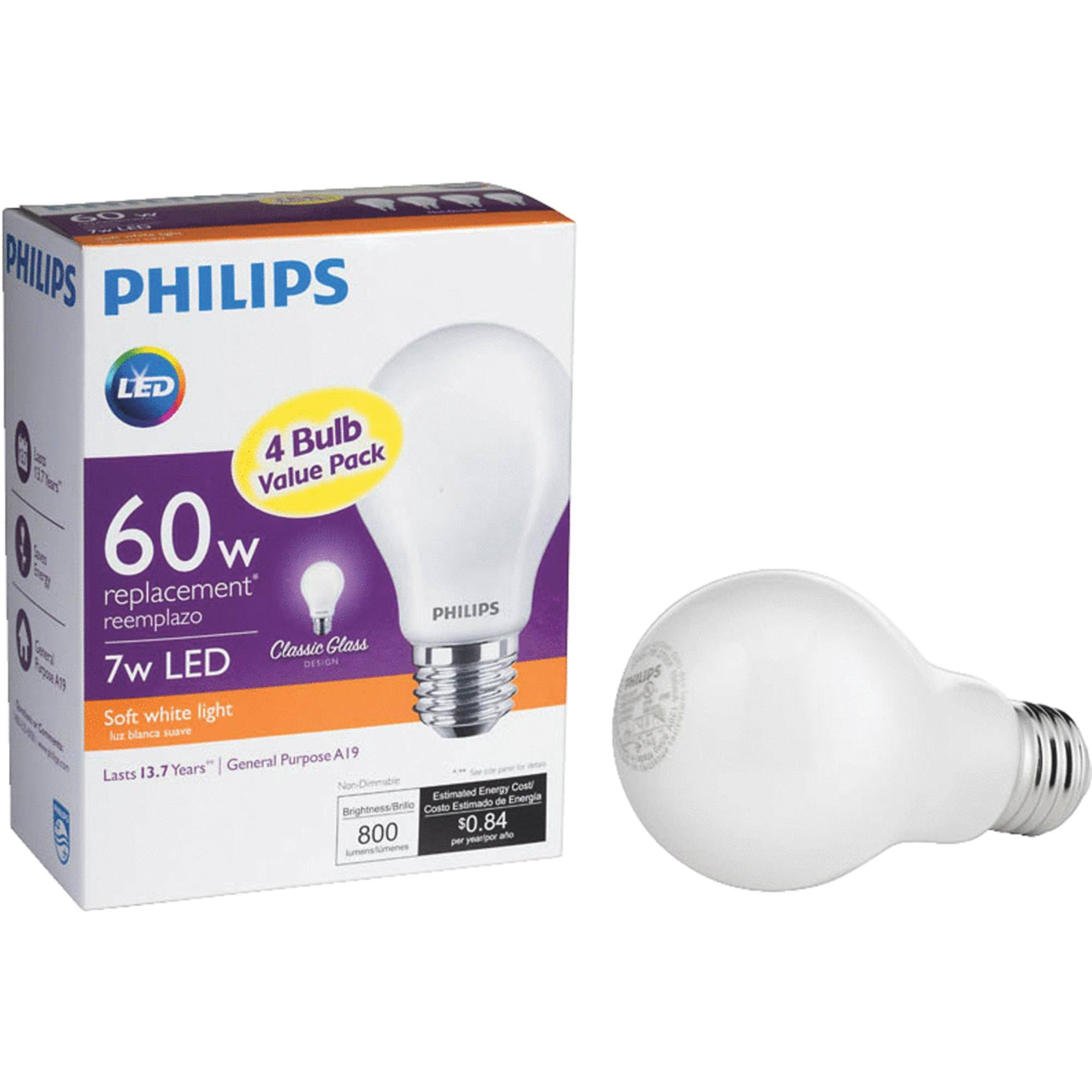 Philips A19 Medium LED Light Bulb - 469817