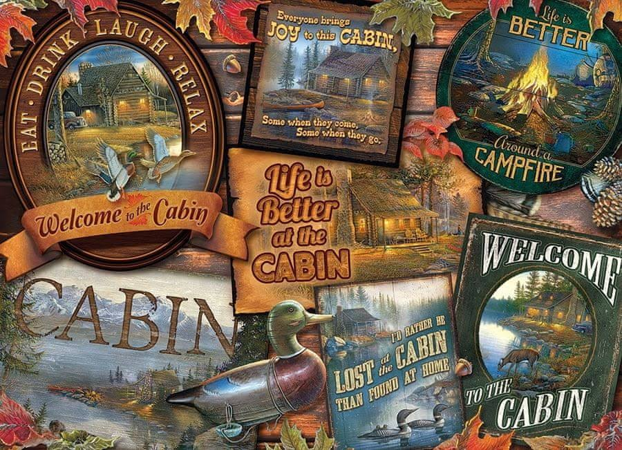 Cobble Hill - Cabin Signs, 1000-Piece Puzzle