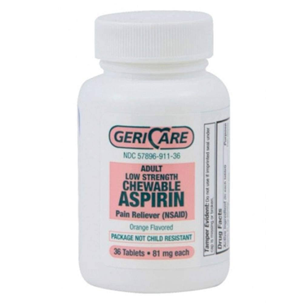 Gericare Adult Aspirin Pain Reliever Tablets - Orange, 36ct