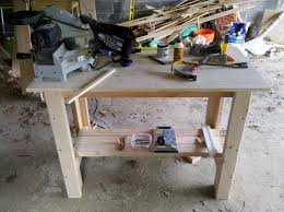 ana white sturdy work bench diy projects