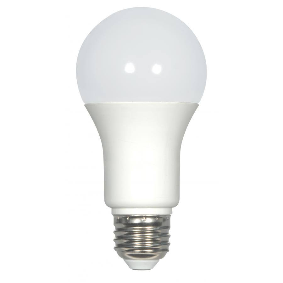 Satco A19 Led Frosted Medium Base Dimmable Light Bulb - Warm White, 9.8W, 120V