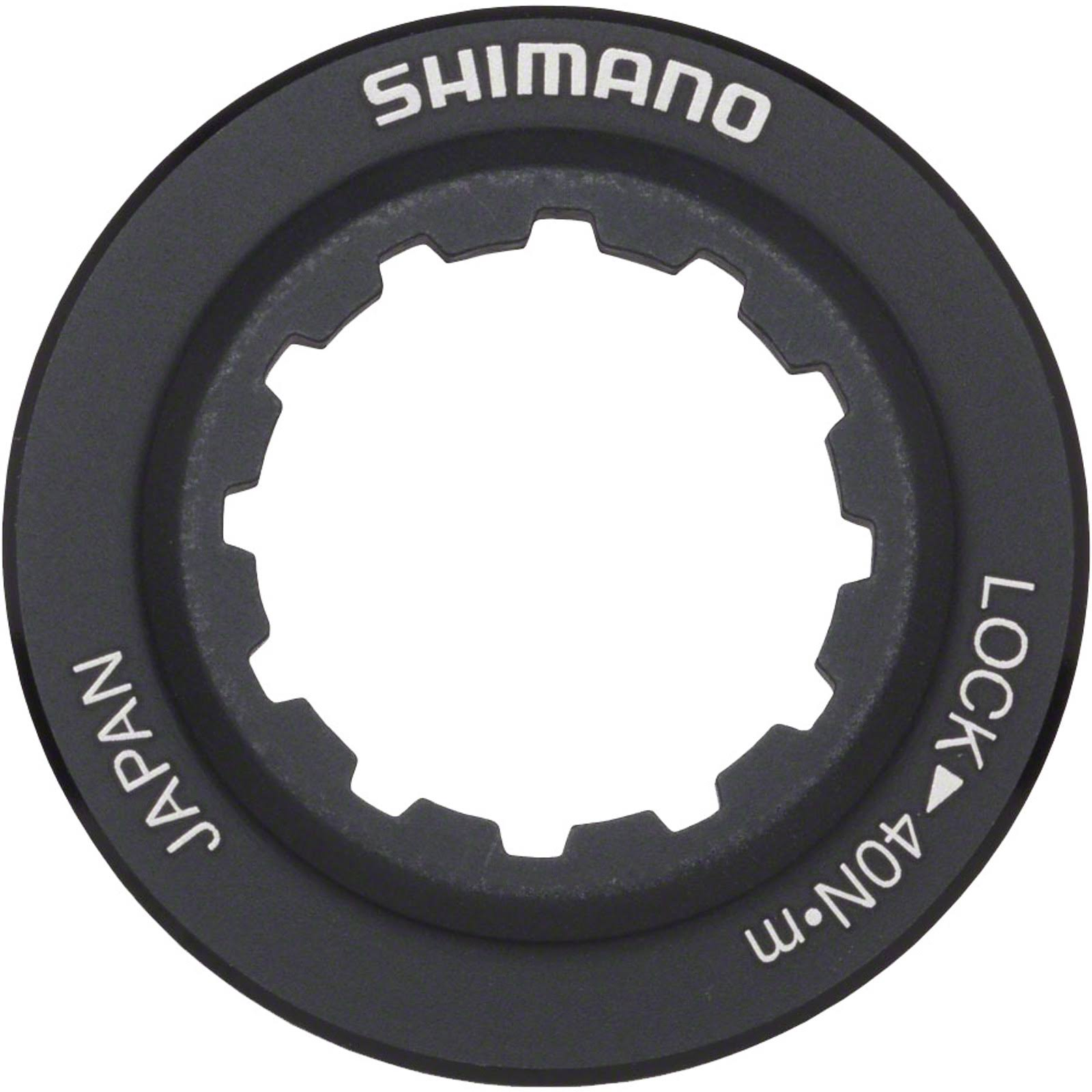 Shimano Rt98 Centerlock Disc Rotor Lockring - Black, Alloy